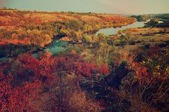 Rural autumn landscape Stock Image