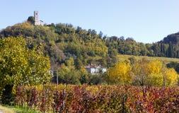 Rural Autumn Landscape on the Collio Stock Photo