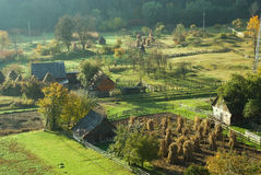 Rural autumn landscape. Photo of a rural autumn, early in the morning, in the northern mountains, Transylvania Royalty Free Stock Photography