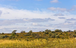 Rural autumn landscape.Southern Urals.Trinity area Royalty Free Stock Photos