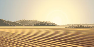 Rural autumn landscape. Rural autumn landscape, the sun rising over the agricultural fields Royalty Free Stock Photo