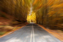 Rural autumn road Royalty Free Stock Images