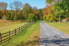 Rural Autumn Road Stock Photos