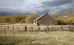Rural Barn in Autumn light Stock Photo