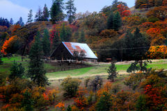 A Rural Barn in Autumn Stock Images