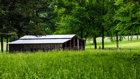 Rural barn in countryside Stock Photos