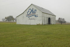 A rural barn with large Ohio Bicentennial 1803�2003 painted on side Stock Image