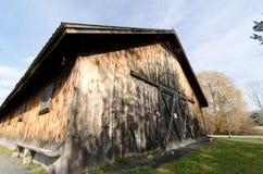 Rural Barn Side. Exterior side of old worn barn stock image
