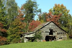 Rural Barn in Tennessee Royalty Free Stock Photo