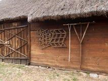 Rural barn and tools. Royalty Free Stock Photos