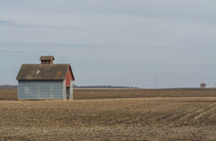 Rural barns in the field. Stock Photo