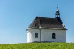 Rural baroque chapel on the horizon Royalty Free Stock Photo