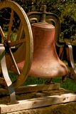 Rural bell. This is a photo of a large rustic farm house dinner bell Royalty Free Stock Photo