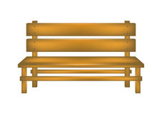 Rural bench. In wooden design on white background Royalty Free Stock Photography