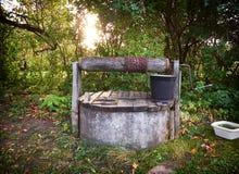 Rural bien con el cubo Imagenes de archivo