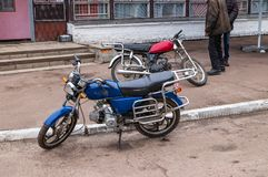 Rural biker mopeds, active lifestyle royalty free stock photos
