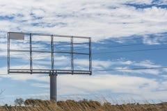 Rural Billboard. Against blue sky Stock Photo