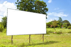 Rural blank bilboard. A blank bilboard situated in a rural location royalty free stock image
