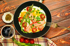 Rural breakfast concept Royalty Free Stock Images
