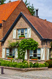 Rural brick house Royalty Free Stock Photography