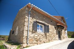 Rural building at gredos mountrains Stock Photos