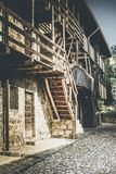 Rural building in a mountain village stock image