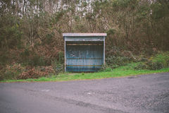 Rural bus stop Stock Photo