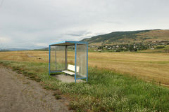 Rural bus stop Royalty Free Stock Image