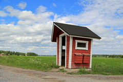 Rural Bus Stop Shelter with Mail Boxes Stock Images