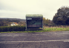Rural Bus Stop With A Vintage Style Royalty Free Stock Images
