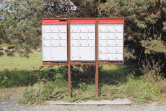 Rural Canadian Mailboxes Royalty Free Stock Photos