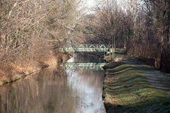 Rural canal scenery Royalty Free Stock Photography