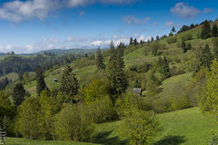Rural Carpathian landscape Romania Royalty Free Stock Photography