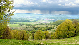 Rural Carpathian landscape Romania Stock Image