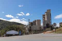 Rural Cement Factory Silos and Towers in South Africa Stock Photos