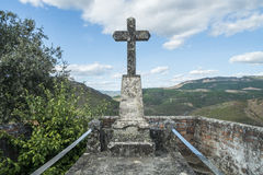 Rural cemetery in a mountainous area in the north of portugal Stock Photography