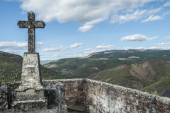 Rural cemetery in a mountainous area in the north of portugal Royalty Free Stock Photography