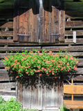 Rural chalet at the village of Engelberg Stock Photo