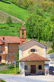 Rural chapel. Piedmont, Italy. Stock Photos