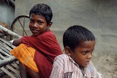 Rural Children in India Stock Photography