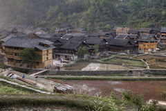 Rural China, mountain area, village of Dong ethnic minority, Gui Stock Images