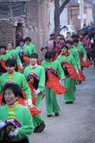 Rural China Spring Festival sacrifice. China XINGTAI city BAIXIANG county, March 2, 2015: In March 2, 2015, at the XIAOLIPU village held a traditional vulcan Stock Images