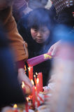 Rural China Spring Festival sacrifice. China XINGTAI city BAIXIANG county, March 2, 2015: In March 2, 2015, at the XIAOLIPU village held a traditional vulcan Stock Image
