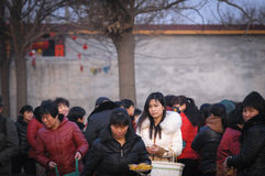 Rural China Spring Festival sacrifice. China XINGTAI city BAIXIANG county, March 2, 2015: In March 2, 2015, at the XIAOLIPU village held a traditional vulcan Royalty Free Stock Images
