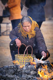 Rural China Spring Festival sacrifice. China XINGTAI city BAIXIANG county, March 2, 2015: In March 2, 2015, at the XIAOLIPU village held a traditional vulcan Stock Photos
