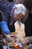 Rural China Spring Festival sacrifice. China XINGTAI city BAIXIANG county, March 2, 2015: In March 2, 2015, at the XIAOLIPU village held a traditional vulcan Royalty Free Stock Image