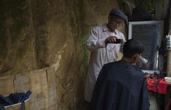 Rural Chinese Barber Stock Photos