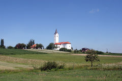 Rural church. Beautiful rural church in Croatia Royalty Free Stock Image