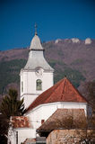 Rural church. Romanian rural landscape at Rimetea village Royalty Free Stock Photo