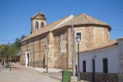 Rural Church. Small church in Cañada de Calatrava, Ciudad Real, Spain Royalty Free Stock Photography